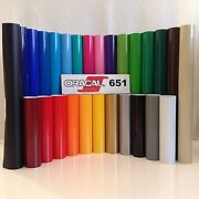12 Oracal 651 Adhesive Vinyl Craft Hobby/sign Maker/cutter 5 Rolls@ 5and039 Ea.