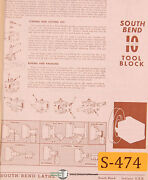 South Bend 10 10-in-one, Lathe 156 Page, Parts And Accessories Manual 1979