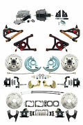 Gm 1964-72 A-body Chevelle Front Rear Black Disc Brake 8 Booster Control Arm