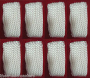 8 White Twisted 3 Strand 3/8 X 20and039 Ft Hq Boat Marine Dock Lines Mooring Ropes