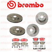Acura Tl Base 3.2l V6 2000-2008 Brembo Front And Rear Brake Kit Discs Rotors Pads