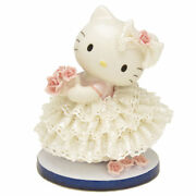 Gift Hello Kitty Pottery Ceramic Lace Doll Ornament Japan Limited Figures Fsnew