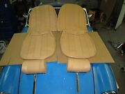 New Seat Covers Upholstery Set W/ Headrests Mg Midget 1970-79 Made In Uk Biscuit