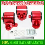 Engine Mount Kit Fit 96-00 Honda Civic Only Fits Three Hole Post Mounts Red