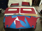 New Red Door And Interior Panel Set With Door Pockets Mga 1955-1962 Made In Uk