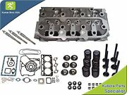 New Kubota D1105 Cylinder Head With Valve Train Kit Full Gasket And 3 Glow Plugs