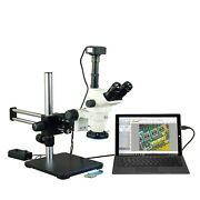 Omax 6.7x-45x Led Usb3 14mp Simul-focal Zoom Microscope On Ball Bearing Stand