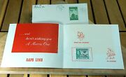 Vintage Stamp Collector Christmas Card Cancelled 3¢ Iwo Jima Uncirc Half Penny