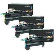 Lexmark C792x4cg C792x4mg C792x4yg Extra High Yield Toner Set Colors Onlycmy
