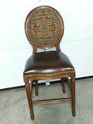 Frontgate Langston Bar Counter Height Chair Leather Barstool Wood Stools 24 B