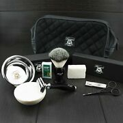 Luxury Complete Traditional Wet Shaving Kit With Safety Razor And Shave Brush