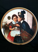 Vintage 1983 Norman Rockwell Gossiping In The Alcove Collectible Plate