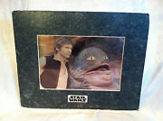 Chrome Art Special Edition Prints, Star Wars Trilogy Jabba And Han Solo By Osp