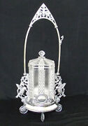 Antique Victorian Pickle Castor Rogers Smith 148 Silverplate Holder With Insert