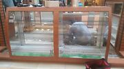 Kiosk Display Case And Counters - Wood Fixtures Only