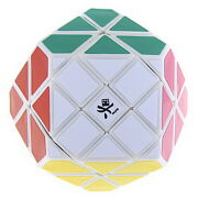 Rare Dy White 14-sided Gem Ii V2 Cube Magic Twist Puzzle Brainteaser By Dayan