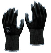 Showa 370 Assembly Grip Nitrile Palm Black Gloves 7/m - 5 Pairs