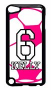 Personalized Name And Number Soccer Girl Case Ipod 6 5 5th 4 Touch Generation
