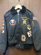 Vintage Goldenand039s U.s. Air Force Custom Made Jacket Patches Embroidery Navy Blue