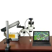 2.1x-270x 720p Wifi Digital Zoom Articulating Microscope 150w Ring And Dual Lights