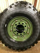 New Military 395/85r20 Michelin Xzl Tire W/ New 5 Ton 10 Hole Budd Wheel