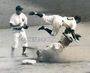 Jackie Robinson Slides Hard Into Phil Rizzuto 1947 Rookie 8x10 11x14 16x20 Photo