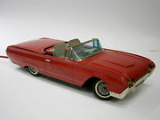 1960's Vintage Old Red Tin Toy Car Ford Japan Yonesawa Ford Thunderbird Battery