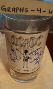 Ac/dc Signed Glass Ac Dc Autograph Angus Young Brian Johnson Coa