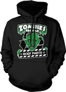 Zombies Recycle Body Parts Brains Funny Humor Joke Living Undead Hoodie Pullover