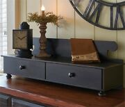 Primitive Distressed Wood Counter Shelf In Aged Black By Park Designs