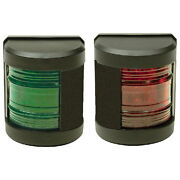 Pair Of Led Classic Side Mount Red And Green Navigation Lights For Boats