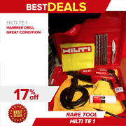 Hilti Te 1 Drill, Free Drill Bits And Extras, Durable And Lightweight, Fast Shipping