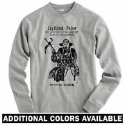 9th Power Long Sleeve T-shirt Ls - Death Sickle Muerte Day Of Dead - Men / Youth