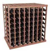 Wooden Double Deep Tasting Table Wine Rack In Redwood. Made In Usa + Free Ship