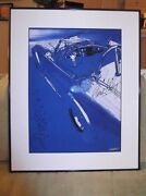 Carole Shelby.......framed Artwork..c.o.a.. Autographed..donand039t Pass This One Up