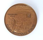 Winter Olympic Games 1968 Grenoble Official Bronze Medal Of The Participants