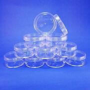 300 Lot Clear Cosmetic Jar Container Plastic Makeup Packaging 50 Gr Storage Ems