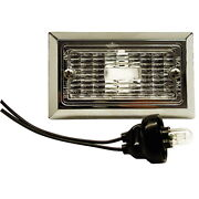 Flush Mount Chrome Plated Courtesy Accent And Step Light For Boats