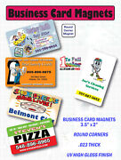 Business Card - Magnets - Full Color - 5000 - Custom Printed. Free Sample