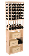 Wooden High Reveal Case Bin Combo Wine Cellar Rack Kit In Pine. Made In The Usa.