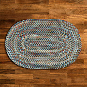 Cedar Cove Light Blue Braided Area Rug By Colonial Mills. Many Sizes