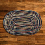 Cedar Cove Navy Blue Braided Area Rug By Colonial Mills. Many Sizes