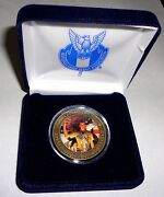 Nesa Eagle Scout Court Of Honor Norman Rockwell Bronze Coin And Case 2013 Jamboree
