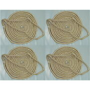 4 Pack Of 1/2 X 25 Ft Gold And White Double Braid Nylon Mooring And Docking Lines