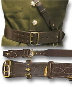 Sam Browne Leather Belt And Cross Strap British Army Officers Brn Or Blk [14090]