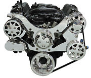 Billet Serpentine Front Drive System-chrysler Small Block - Polished - W/ac And Ps
