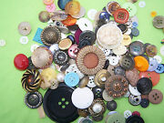 40+ Pcs Vintage Buttons Crafts Charms Sewing Antique Buttons