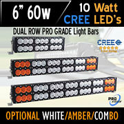 6 Inch 60w Led Bar Light - Cree Dual Row - The Most Powerful In The World Today
