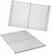 Weber 7528 Set 2 Stainless Steel Grill Bbq Cooking Grates Genesis E-300 S-300