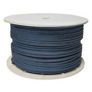 3/8 Inch X 600 Ft Navy Blue Double Braid Nylon Rope Spool For Boats